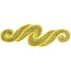 Motif Sequin/beads 29.5x9.5cm Scroll Gold Hologram